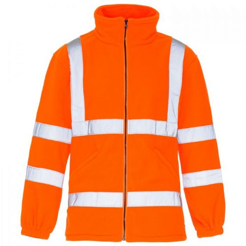 Supertouch Hi Vis Orange Fleece Jacket
